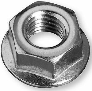 Flange Nuts M4 M5 M6 M8 M10 M12 High Tensile (Non) Serrated pack, 10 pack