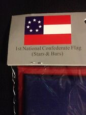 "CIVIL WAR 1ST NATIONAL CONFEDERATE 7 STAR FLAG   ""Stars and Bars"" 3 x 5 Feet"