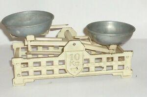 Old Children Tin Toy Scale Shop Blechwaage Um 1900