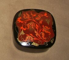 AUTHENTIC RUSSIAN Hand Painted Lacquer Jewelry Trinket Box Art MOCKBA MOSCOW