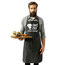 Funny Novelty Apron Kitchen Cooking - Sous Chef Second In Command