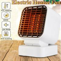 Mini Ventilateur de Chauffage Electrique 500W Bureau à Domicile Aluminium  +A