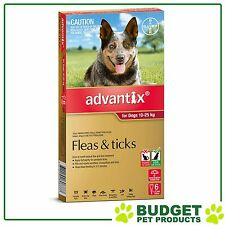 Advantix For Dogs Large 10-25kg 6 Pack