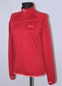 Jack Wolfskin womens active wear red full zip jumper jacket Size M