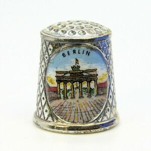 COLLECTABLE METAL THIMBLE 'BERLIN' GERMANY