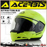 CASQUE ACERBIS STRATOS 2.0 CROSSOVER INTEGRAL/JET JAUNE MOTO SCOOTER TAILLE S