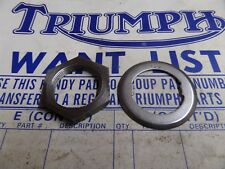 57-1434 TRIUMPH 3TA T21 T100 T90 5TA SC GEARBOX SPROCKET NUT & TAB LOCK WASHER