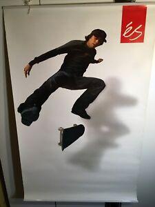 "Eric Koston eS Shoes Contract Team Vinyl Banner Poster 31"" x 48"" Rare Skateboard"
