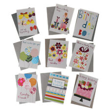 9 Pack Cute Happy Birthday Greeting Card with Envelopes Kid Gift Party Favor