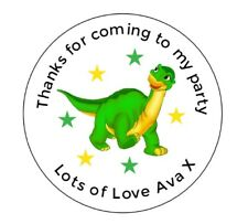 24 Personalised Dinosaur, Birthday, Goody Bag Stickers Party Thank You
