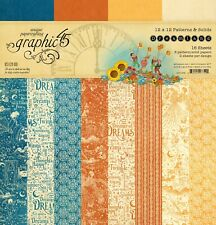 "NEW  Graphic 45 12"" x 12"" Paper Patterns and Solids Dreamland"