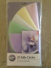 Tulle Circles Lavender Mint Green Blue Yellow Pink Set of 25