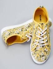 kiabi scarpe bassa ginnastica tela giallo floreali taglia it 39 eur 41 uk  7.5 3919c568e34