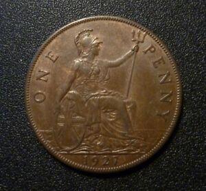Great Britain Penny 1927 - Lovely Eye Appeal