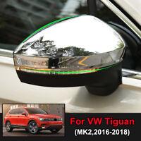 For VW Tiguan MK2 2nd Gen 2016-2019 Chrome Rear View Side Door Mirror Cover Trim
