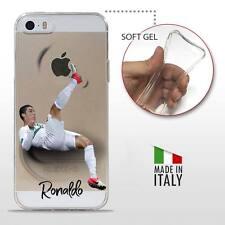 iPhone 5 5S SE COVER PROTETTIVA GEL TRASPARENTE Calcio Soccer Cristiano Ronaldo