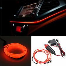 12V 2M EL-Wire Led Car Interior Decor Fluorescent Neon Strip Cold light Tape Red