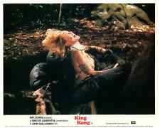 King Kong original 1976 lobby card Jessica Lange in Kong's hand