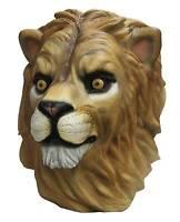 Latex Lion Overhead Adult Mascot Head Halloween Furry Beast Cosplay Costume Mask