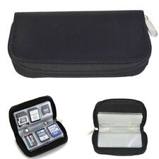 22 SDHC MMC CF Micro SD Memory Card Storage Carrying Pouch Case Holder Black New