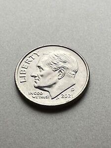 (1 Coin) 2021 D Roosevelt Dime from BU Rolls - Denver Only