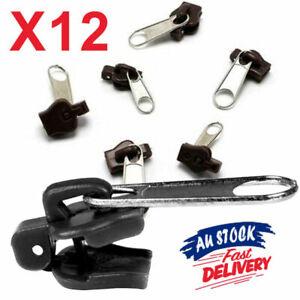 6 or 12PCS Zipper Repair Sewing Kit Instant Fix Universal DIY Replacement Zip