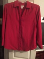 Red Formal/Business Blouse By Chico's