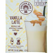 Frozen Bean Vanilla Latte Frappe Mix Iced Coffee Drink, 2.8 oz