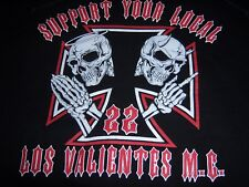 MOTORCYCLE CLUB LOS VALENTES HOODIE XXL SUPPORT YOUR LOCAL MINNESOTA CLUB