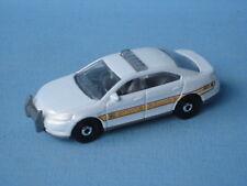 MATCHBOX FORD Police INTERCEPTER bianco auto della polizia di stato giocattolo modello 75mm UB