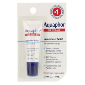 Aquaphor, Lip Repair, Immediate Relief, Fragrance Free, .35 fl oz (10 ml)