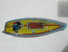 Vintage Made in China Tin Wind Up Toys MS Code 1970-80s DRAGON FLY SPEEDBOAT