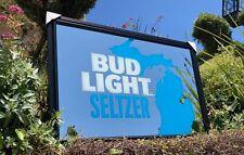 "Bud Light Seltzer Budweiser King Of Beer Bar Pub Man Cave Mirror  ""New"""