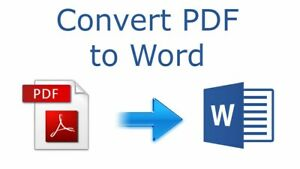 Convert PDF to Word and Word to PDF100% Guarantee Past Delivery Quick Services