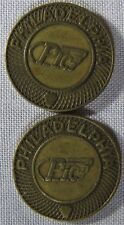 2 - Philadelphia PTC Transit Tokens PLEASE LOOK AT PICTURES  whotoldya Lot 41318