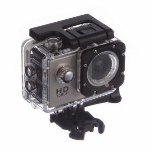 """Objekt Action Kamera HD 1080p Weitwinkel Objektiv 120 Degree 2"""" LCD wasserdicht"""