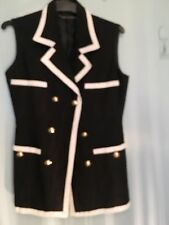Trent Nathan black and white vest jacket in size 8