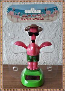 Wackelfigur Beach Flamingo mit Solarfunktion -