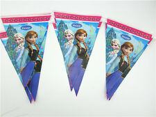 10pcs Disney FROZEN Flag Princess BANNERS BUNTING Birthday Party Decoration Gift
