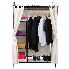 Gebrauchte Kleiderschrank Stoffschrank Faltschrank mit Vorhang L181856A+RTG03H