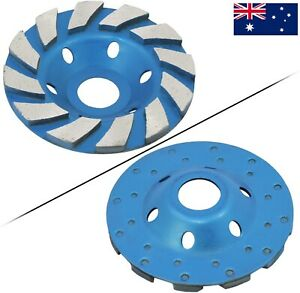 """4"""" 100mm Concrete Turbo Diamond Grinding Cup Wheel Turbo Cup Disc Grinder AU"""