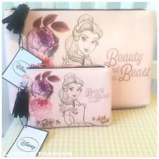 Beauty And The Beast Wash Bag Set Large & Small Vanity Case Make Up Bag Primark