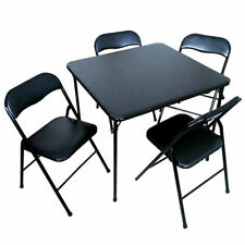 "PDG Five Piece 34"" Card Table and Four Chairs Folding"