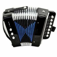 *GREAT GIFT* NEW Top Quality Black Accordion Kids Musical Toy w 7 Buttons 2 Bass