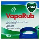 Vicks Vaporub Congestion Vapour Rub Relief Chest Eucalyptus Menthol 50g