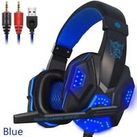 Gaming Headset Earphone Wired Gamer Headphone Stereo Sound Headsets with Mic LED