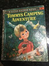 TOMMY'S CAMPING ADVENTURE Gladys Saxon LGB LITTLE GOLDEN BOOK First Edition 1962