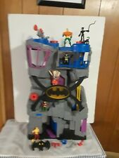 Large Imaginext DC Comics Batcave Playset W/ figures- Aquaman Batman Robin JLA