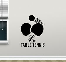 Table Tennis Wall Decal Ping Pong Sport Vinyl Sticker Gym Decor Poster 206hor