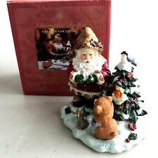 Christopher Radko Woodland Winds Christmas Santa Figurine A Season for Giving